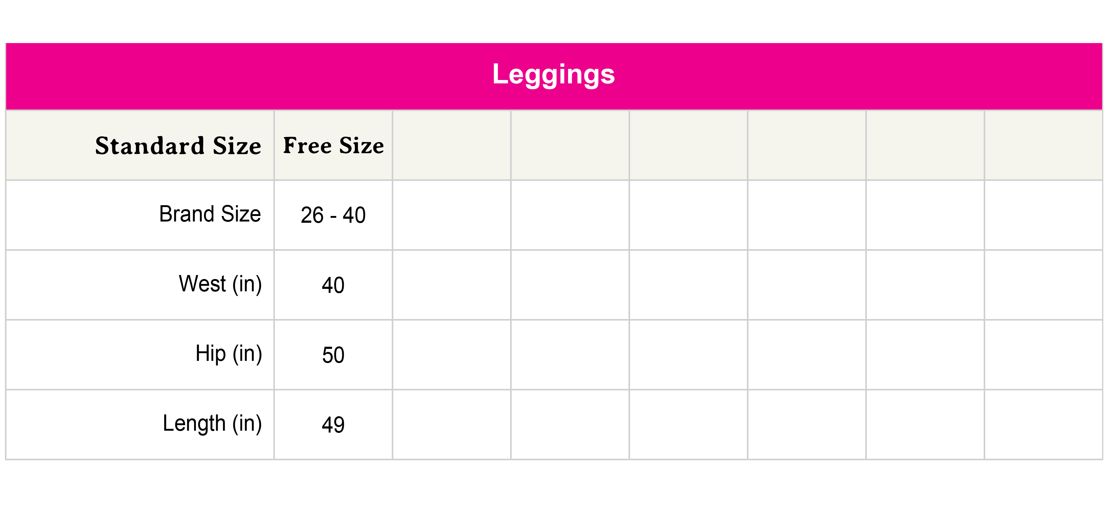 Size chart not availabe.