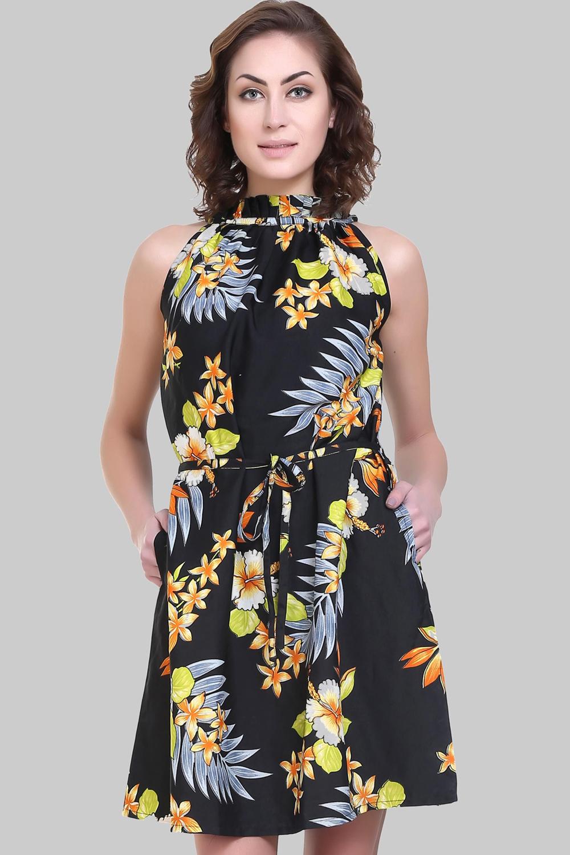 d73c3e5a33f8 Sleeveless Halter Neck Crepe Dress Black - Buy Sleeveless Halter ...