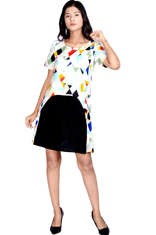 3487250cb3 Attire Multi Midi Bodycon Dress - Buy Attire Multi Midi Bodycon Dress  Online   Best Price in India