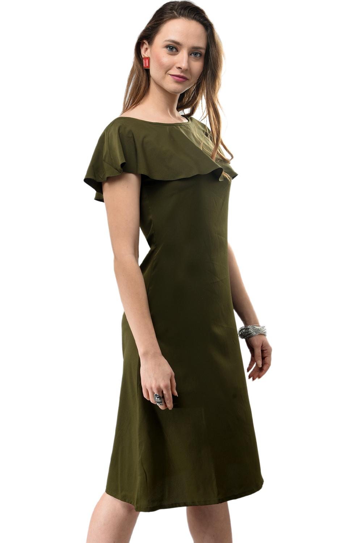 c9279763c8857 Jha Fashion Green Color Midi Dress - Buy Jha Fashion Green Color Midi Dress  Online @ Best Price in India   dorbby.com