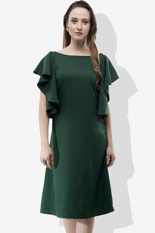 720074e3adb65 Jha Fashion Green Midi Dress - Buy Jha Fashion Green Midi Dress ...