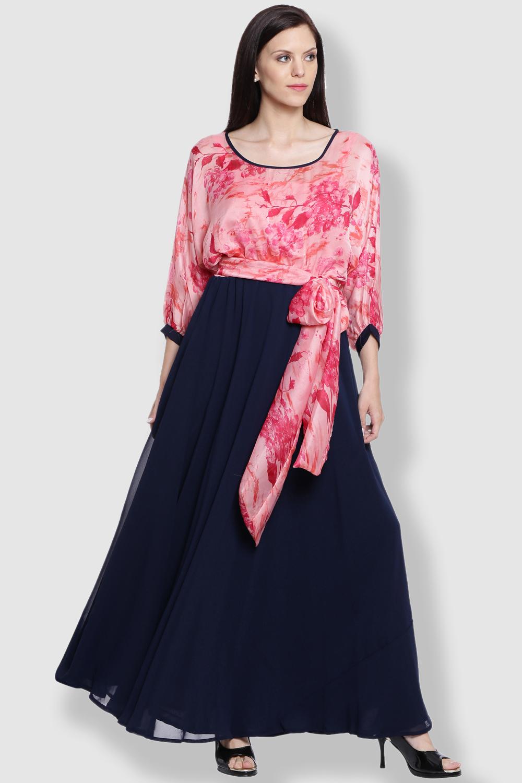 Just Wow Georgette Black Dress