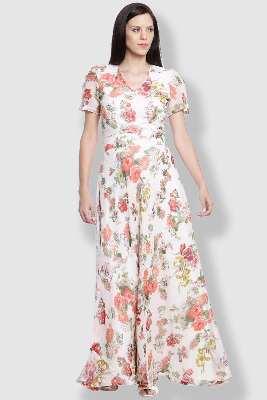 Just Wow Georgette Multi Dress