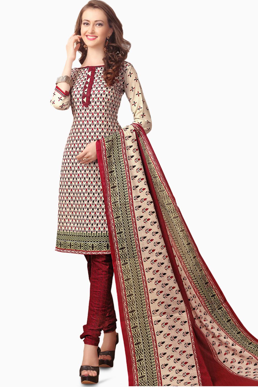 001b9e221c MINU and MANINI Suits Beige Cotton Salwar Suits Sets Dress Material ...
