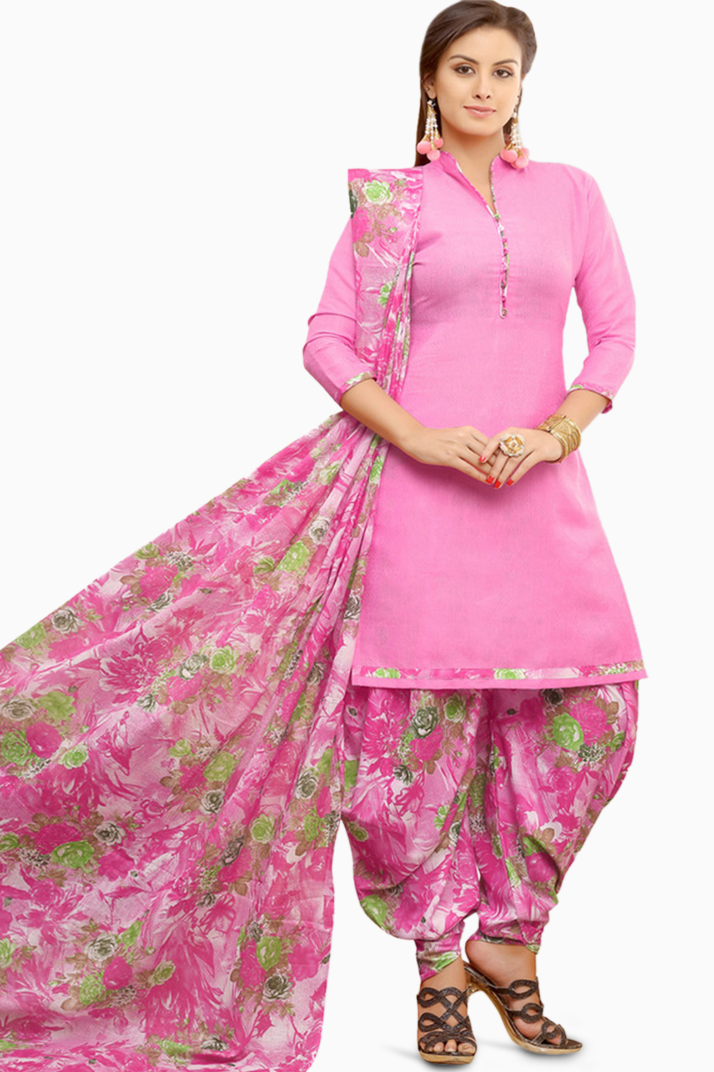 461ca2b241 MINU and MANINI Suits Pink Cotton Salwar Suits Sets Dress Material ...