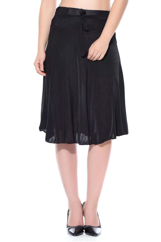 Style Gravity Black Midi Skirt