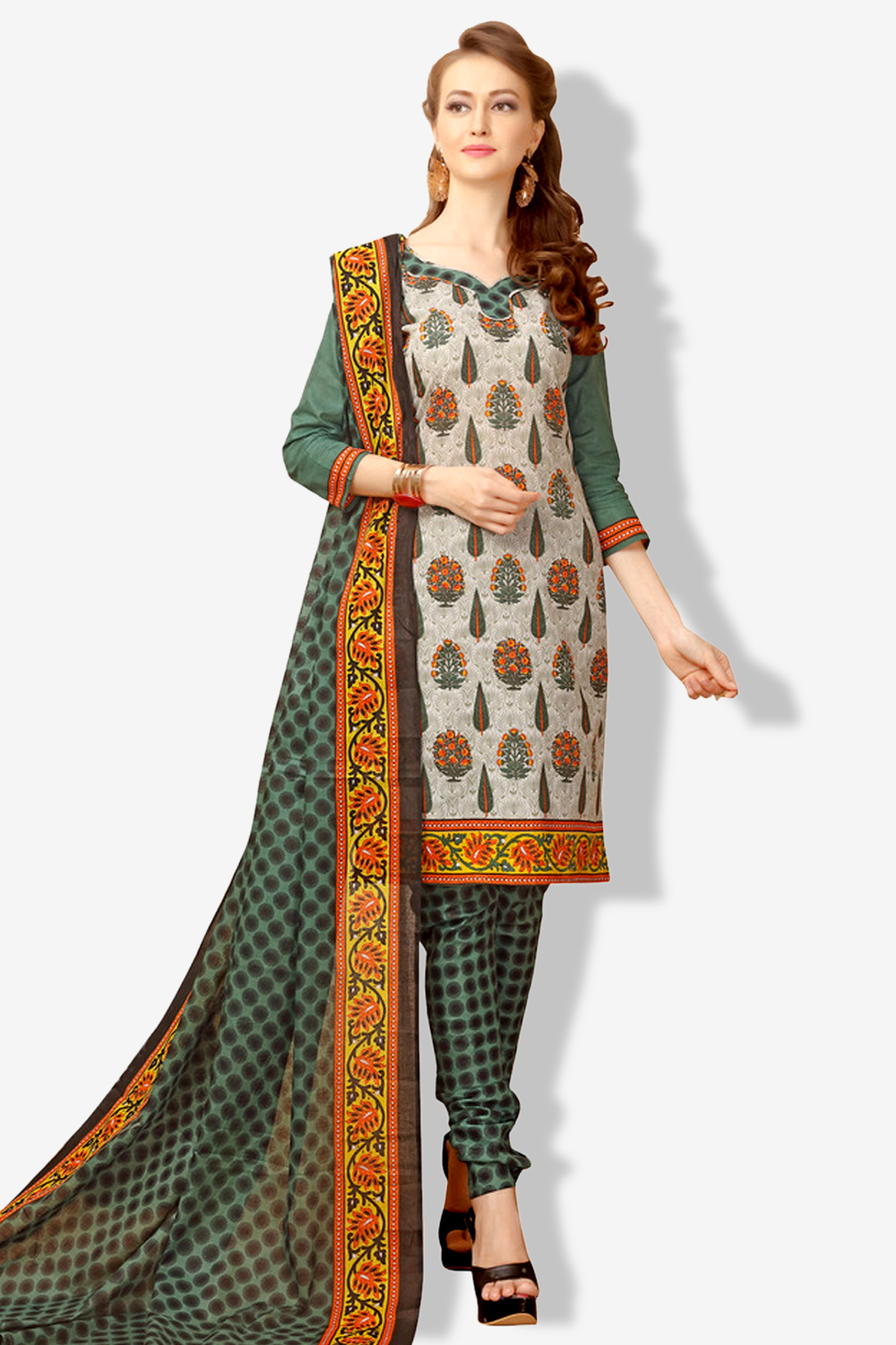 MINU and MANINI Suits Multi Cotton Salwar Suits Sets Dress Material Freesize